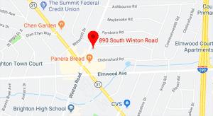 Map, Rochester/ Brighton Dentist
