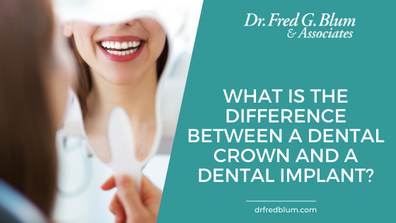 The difference between a dental crown and a dental implant